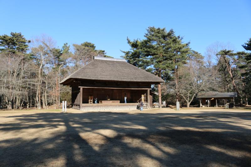 農村歌舞伎舞台(江戸時代後期頃に千葉県香取郡で使用)