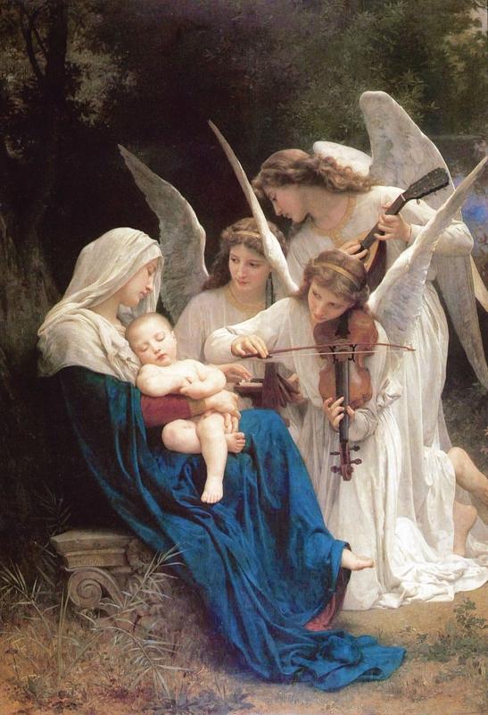 ブグロー作「歌を歌う天使達」(1881年)