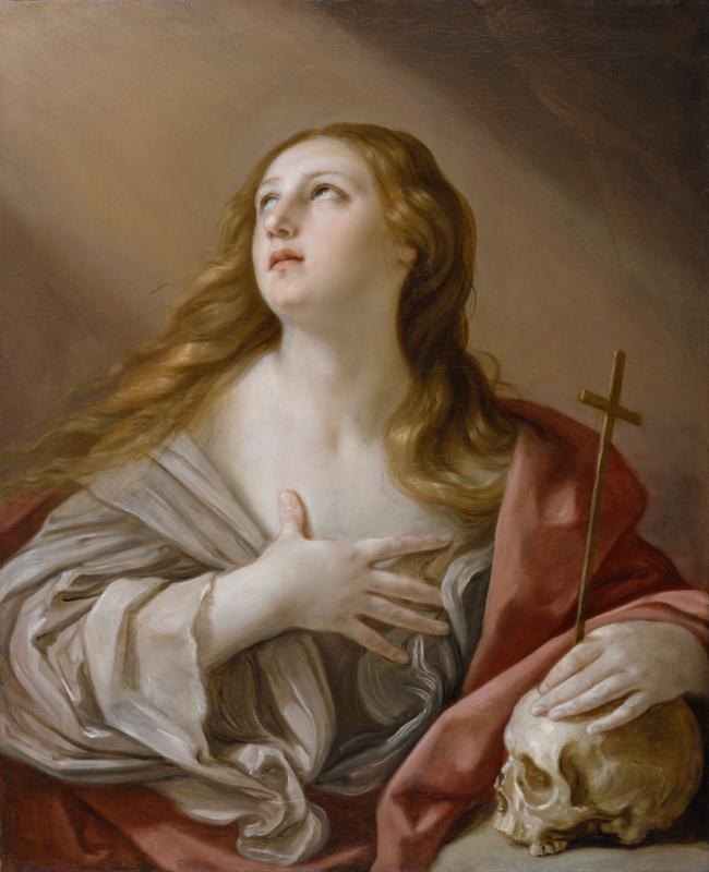 「悔悛するマグダラのマリア」(1635年、レーニ作)