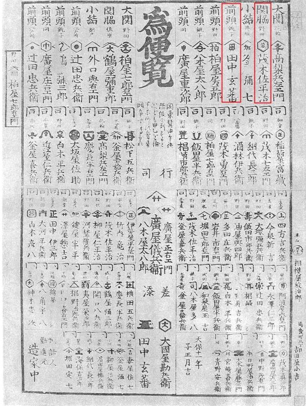 江戸時代の醤油番付(キッコウマン醤油とヒゲタ醤油が上位にランク)