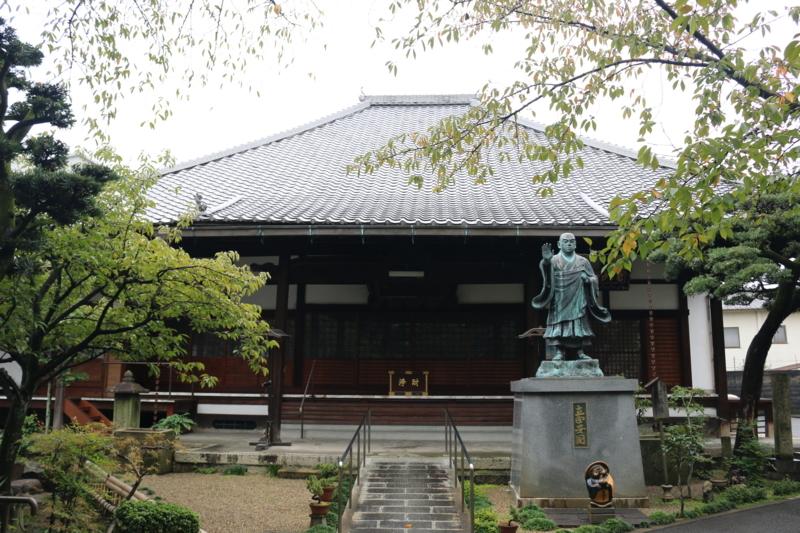 墨染寺本堂(青葉の墨染桜)