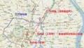 江戸城からどんどん遠のく中村座の遷移