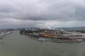 土崎港から由利本荘市方面(弧を描く海岸線が見えます)