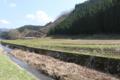 赤田川支流にある古舘館方面(遺構らしきものは残されていません)