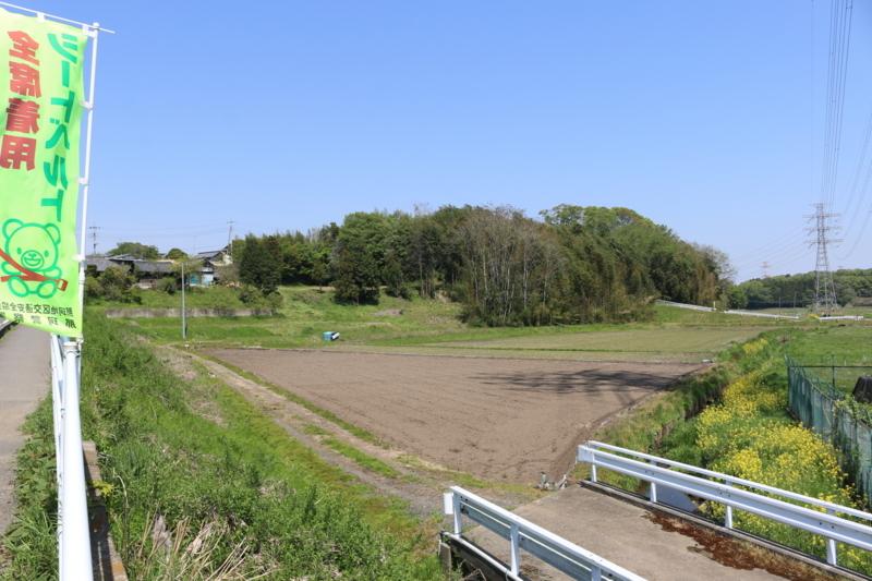 額田城の遠景
