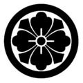 清和源氏の家紋「丸に剣花菱紋」