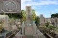 木瓜紋(田上墓地)※花菱紋の一種で和歌山県にも分布