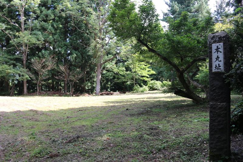 金沢柵の本丸跡