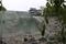 石垣を改修中の津軽城