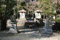 1889年の大洪水で流失した社を祀る石造の小祠