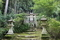 大江時親碑(大江時親邸の横、庭に楠公手植えの枝垂桜あり)