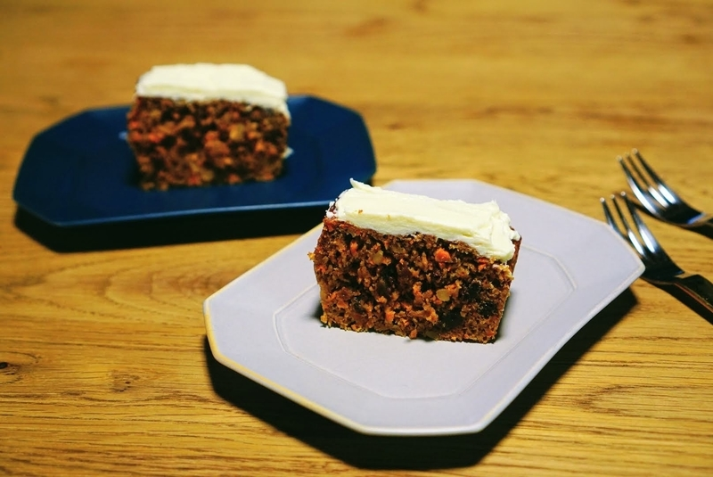 アメリカンで素朴でとても簡単にできるキャロットケーキのレシピ