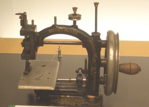 麦藁帽子製造用のミシン
