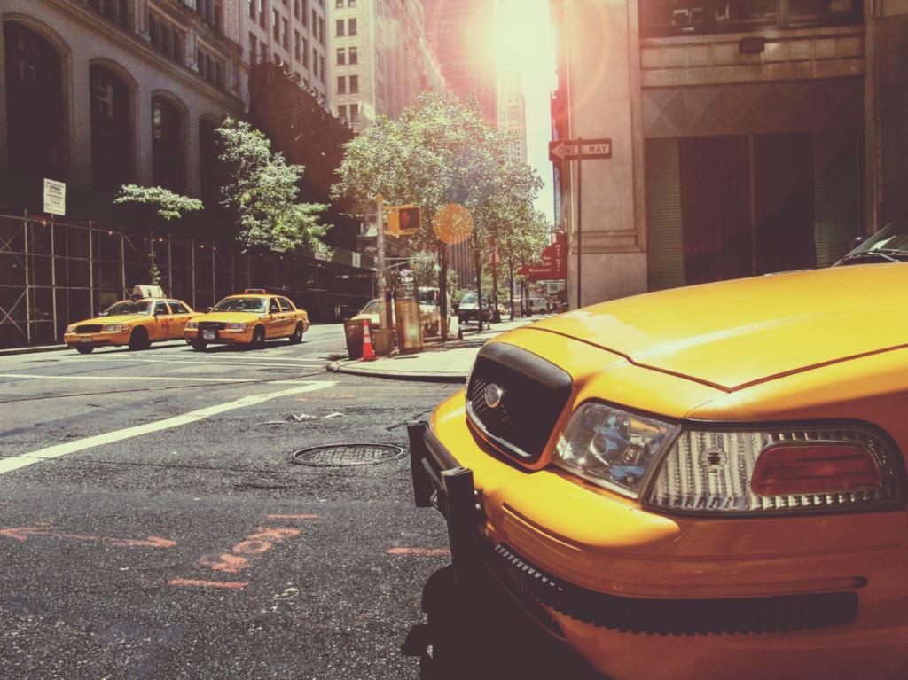 ニューヨークのタクシー画像