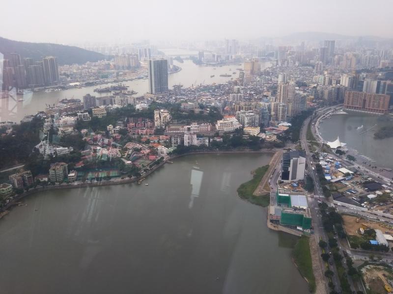 マカオタワー展望台から見る風景