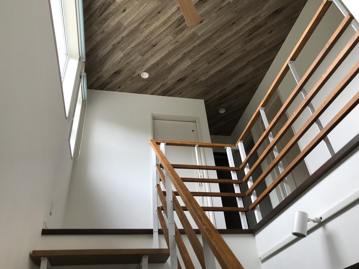 リビング階段と吹き抜け天井