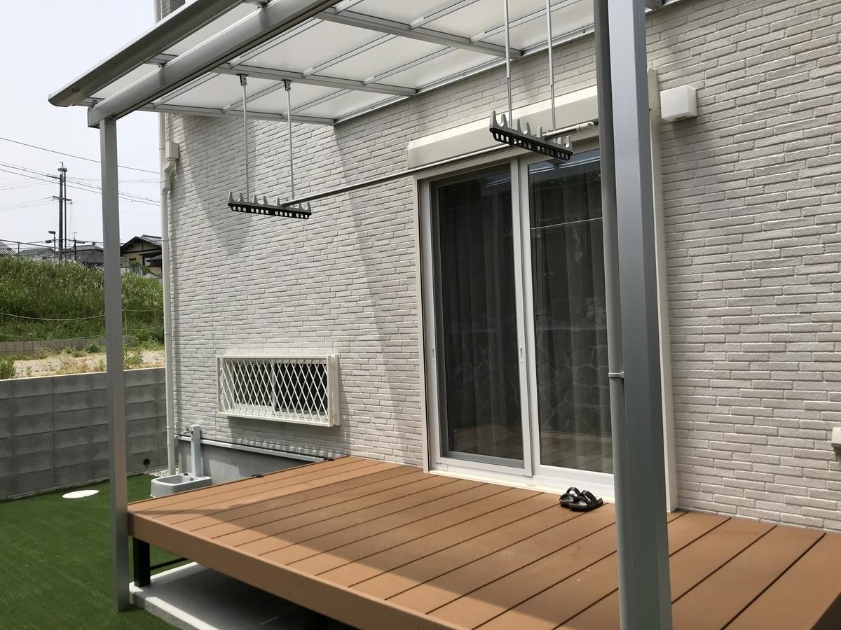 ウッドデッキのルーフ(屋根)