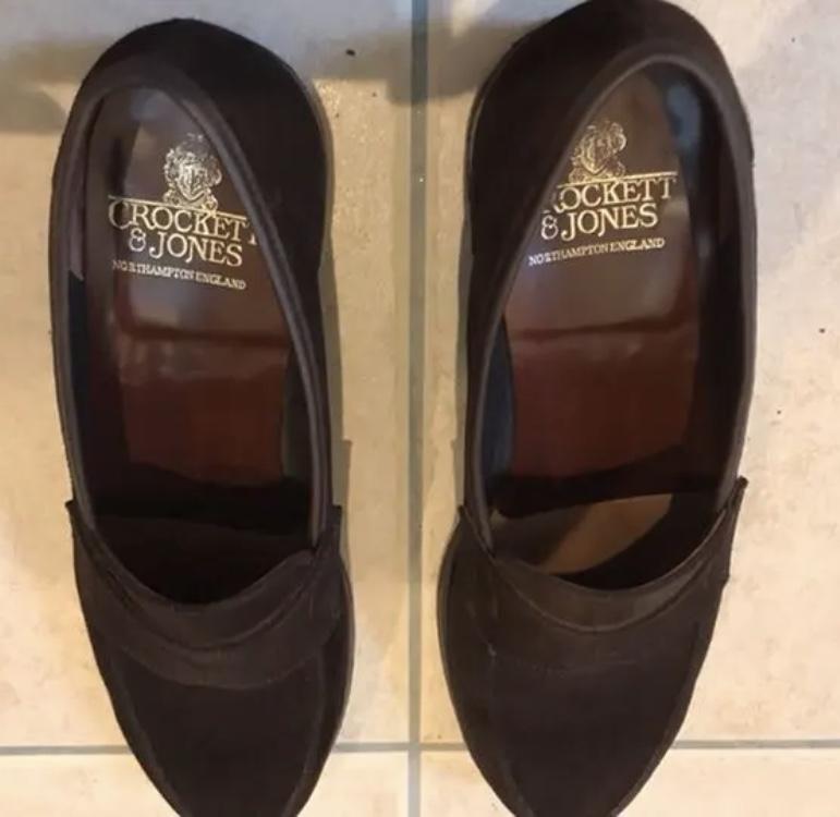 クロケット&ジョーンズ スエード靴