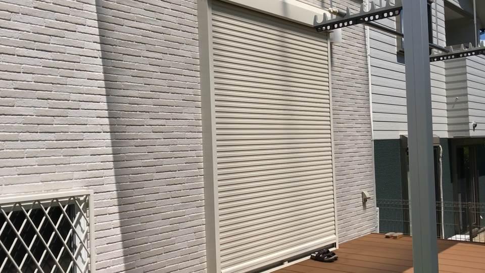 掃出し窓のシャッター