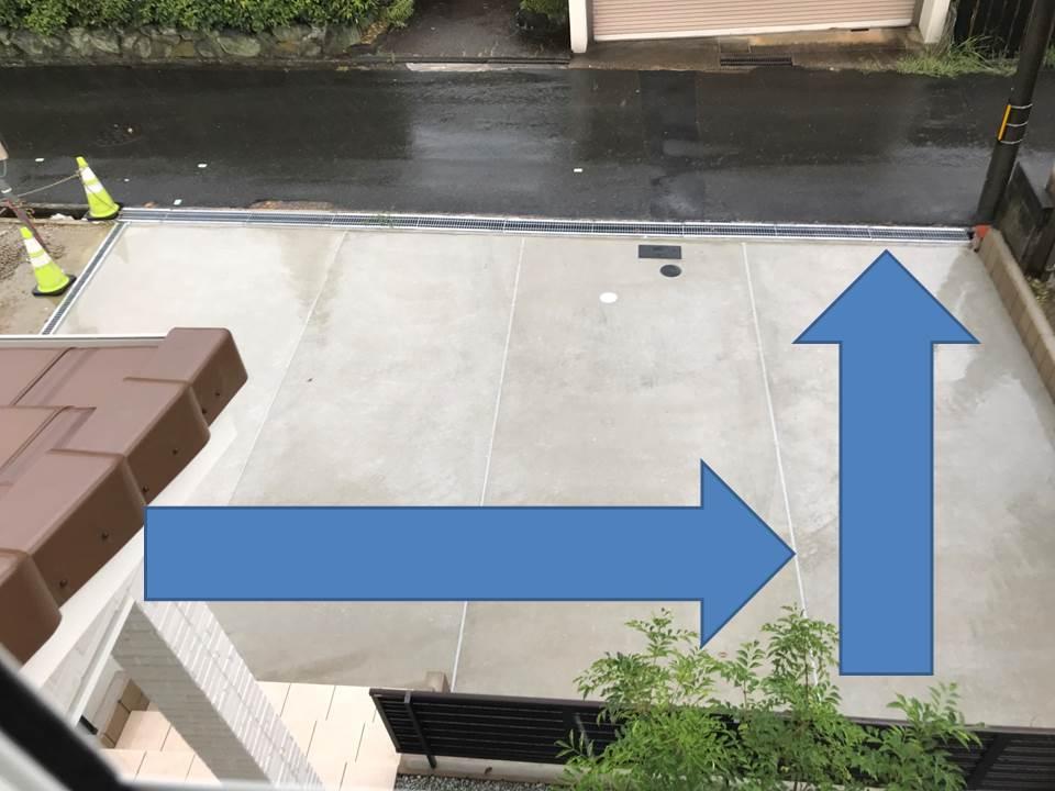駐車場の勾配