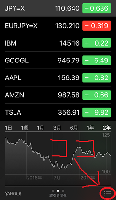 iphone株価アプリの画像