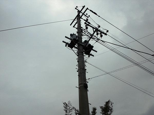 電柱とくもり空