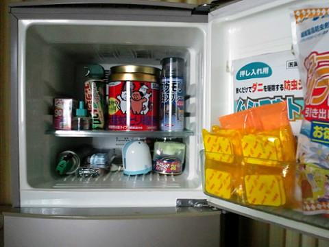 冷凍庫に入れた害虫・害獣駆除の薬剤