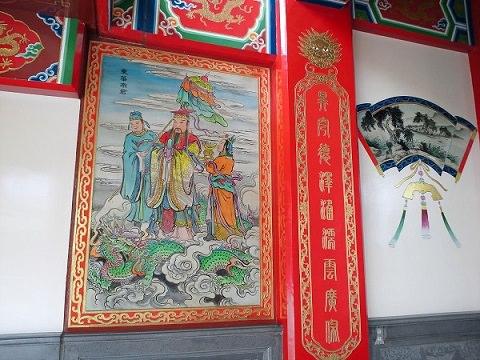 前殿に描かれた絵 聖天宮