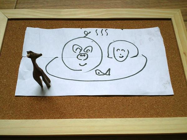 ブーさんが描いた私たちのイラスト