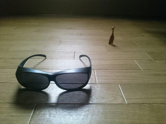 ダイソーのオーバーサングラス