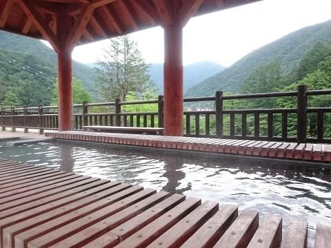 「湯西川水の郷」の無料の足湯