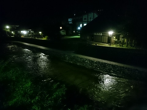 川沿いの平家集落