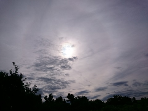 太陽に暈(かさ)がかかると雨が降る