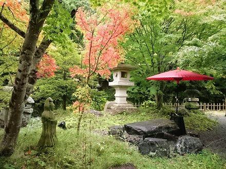 湯西川温泉 平家の庄 紅葉はじめのお庭