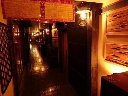 古民家風の廊下