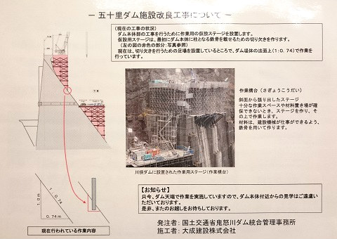 「わくわくダムダム資料室」作業構台についての説明