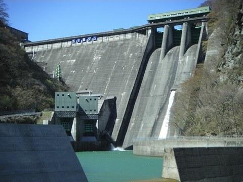 工事前の五十里ダム