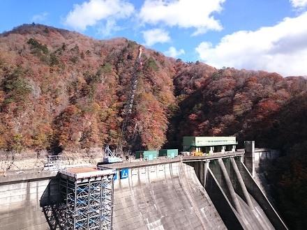 2017年11月上旬の五十里ダム天端