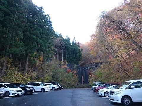 「道の駅湯西川」第3駐車場の奥にある時沢下沢砂防堰堤