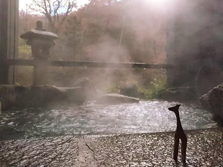 11月中旬の貸切露天風呂