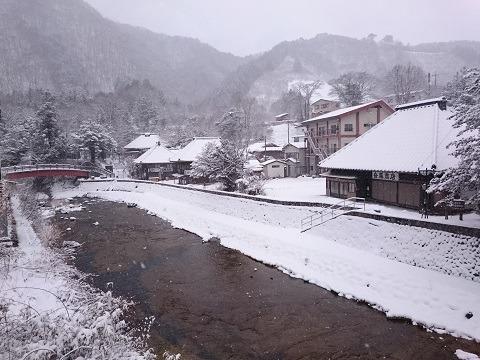 雪化粧した平家集落