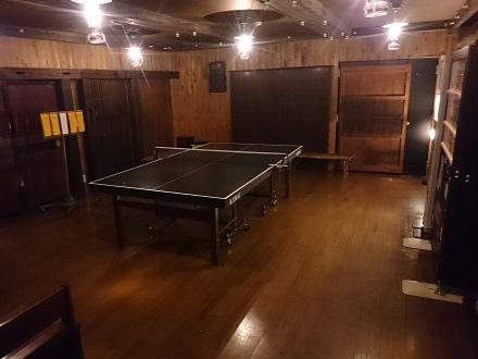東館1階卓球コーナー