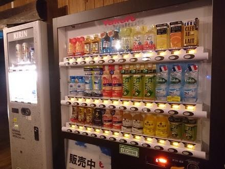 卓球コーナーの自動販売機