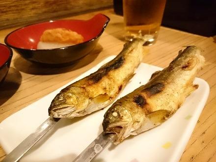 川魚の串焼き-湯西川温泉「平家の庄」