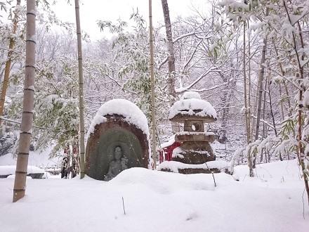 雪の庭-湯西川温泉「平家の庄」