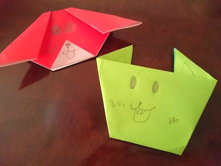 折り紙ワンコ