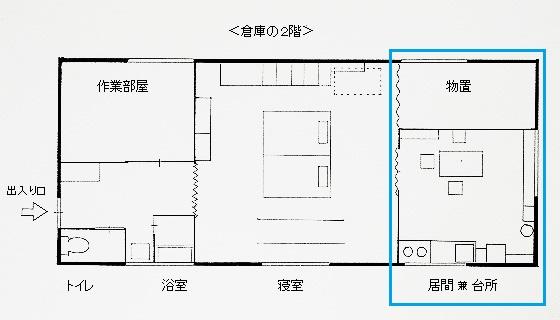 奥(倉庫の2階)