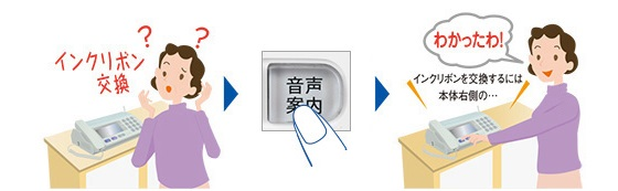 便利な機能「音声案内ボタン」詐欺対策電話機「UX-AF90CL」
