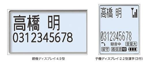 見やすい大型液晶 詐欺対策電話機「UX-AF90CL」