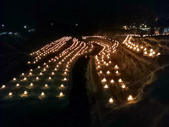 日本夜景遺産認定湯西川かまくら祭「ミニかまくらのライトアップ」